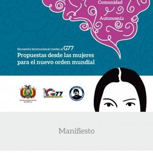 Manifiesto Cumbre Mujeres Santa Cruz - Bolivia 29 y 30 de Mayo 2014-cort