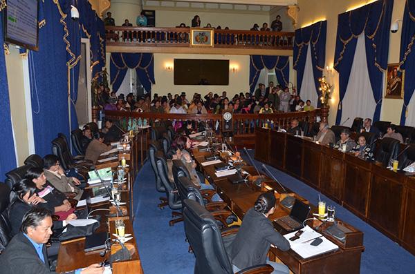 Presentación de la Ley contra el acoso y violencia política hacia las mujeres en el senado boliviano