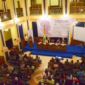 Ministra de Comunicación, Amanda Dávila da inicio al Seminario Internacional y a la presentación del Protocolo