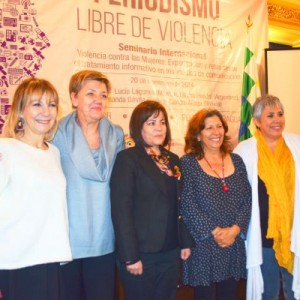 Liliana Hendel, Christine Brendel, Amanda Dávila, Sandra Aliaga, Lucía Lagunes e Irma Campos
