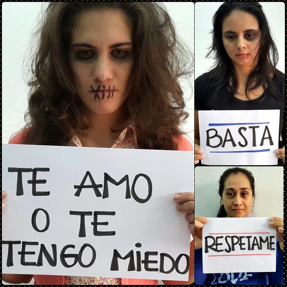 Colaboradoras haciendo mensajes de concienciación Foto: Fundación Paraguaya