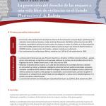 Datos útiles sobre. La protección del derecho de las mujeres a una vida libre de violencias en el Bolivia