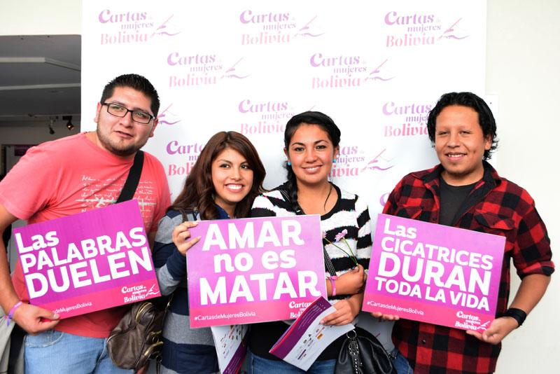 """Imagen del cierre de la campaña """"Cartas de Mujeres Bolivia"""""""