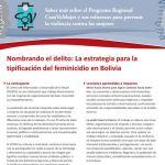feminicidio CIDEM bolivia