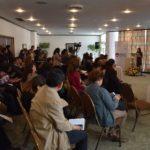 Viceministra de Igualdad de Oportunidades, Dra. Estefanía Morales dando a conocer la importancia de los Resultados de la Encuesta.